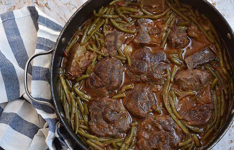 שעועית ירוקה עם בשר