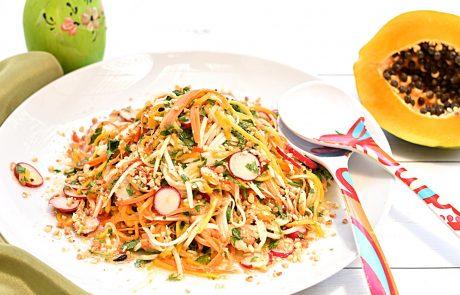 סלט פפאיה תאילנדי או לאכול בלי ייסורי מצפון