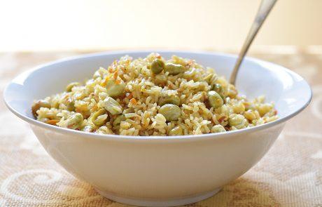 אורז עם פולים