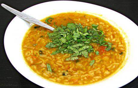מרק עגבניות עם אורז