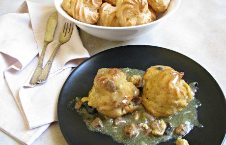 פחזניות ברוטב כבדי עוף, לבבות, חזה עוף ופטריות או המנה האולטימטיבית של חורצ'ק לסוכות