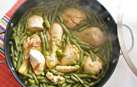 תבשיל שעועית ירוקה ועוף