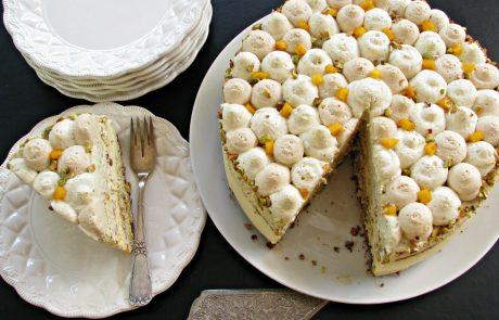 עוגת מוס פיסטוק, מוס וניל וקפה חגיגית וברוכה הבאה שנת 2017