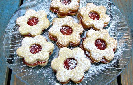 עוגיות פרח ריבה