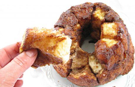 עוגת שמרים וקינמון (לחם קופים) או כדורי שמרים וקינמון