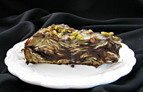 עוגת מצות עם שוקולד על מחבת