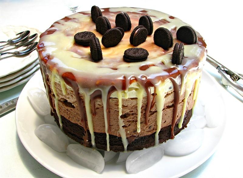 עוגת גלידה שוקולדית