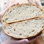 לחם ללא לישה, מהיר, מקמח כפרי וקמח לבן