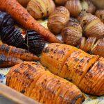 ירקות בתנור - מניפת ירקות צלויים בתנור