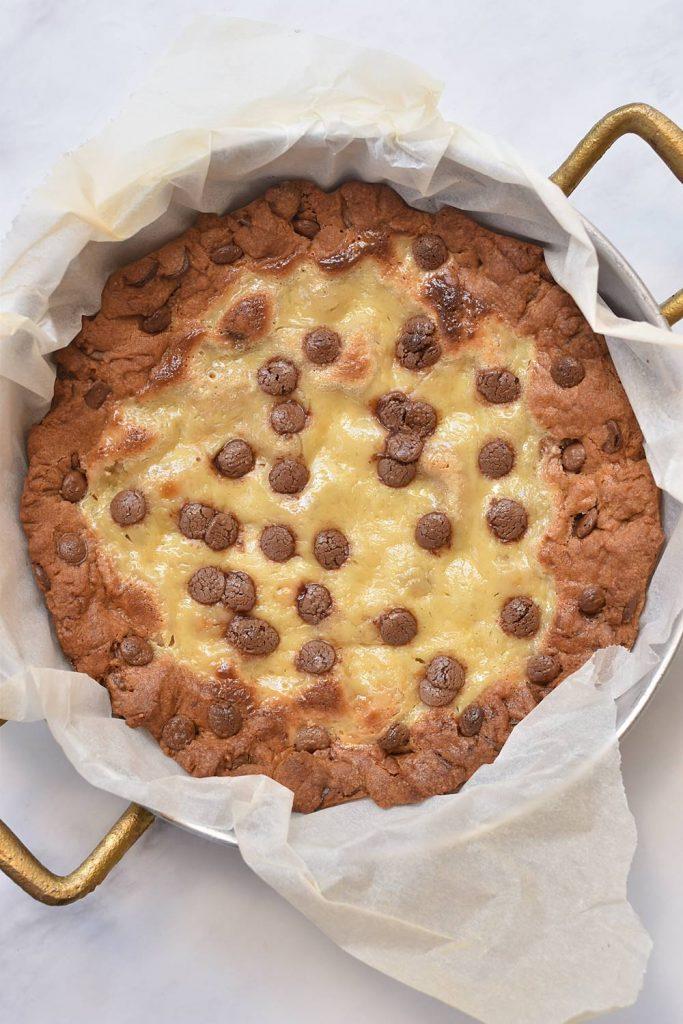 טארט שוקולד צ'יפס וקרם וניל