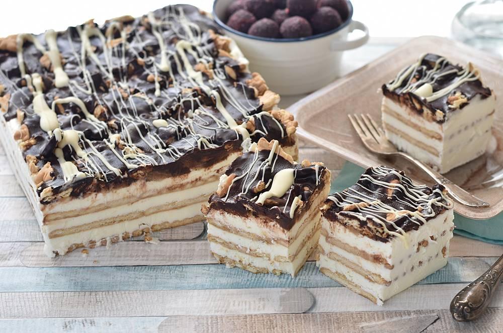 עוגת גבינה וביסקוויטים קלה וטעימה