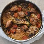 תבשיל עוף עם כרוב לבן וסלק ירוק חמצמצים