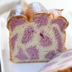 לחם חלב יפני מנומר עם בטטה סגולה