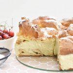 עוגת פחזנייה גדולה(Karpatka) וקרם מסקרפונה - פיסטוק