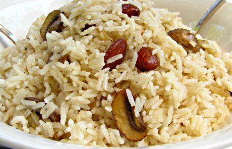 אורז חגיגי עם שקדים ופטריות