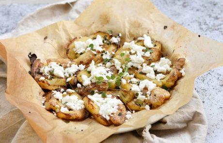 תפוחי אדמה בתנור עם שום קונפי ופטה כבשים