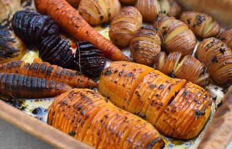 ירקות בתנור – מניפת ירקות צלויים בתנור