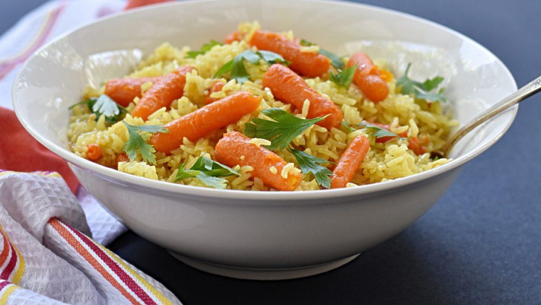 אורז עם תוספת של  גזר גמדי