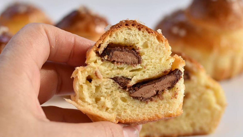 לחמניות בריוש במילוי שוקולד