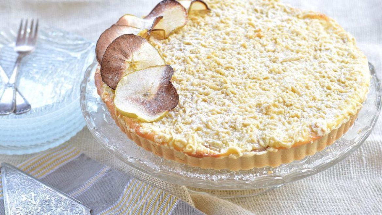 טארט גבינה, תפוחים ושטרוייזל