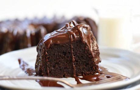 עוגת שוקולד מריר ללא סוכר ועם קמח כוסמין