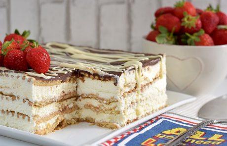 עוגת גבינה וביסקוויטים משודרגת