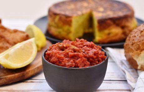 סלט מטבוחה – עגבניות מבושלות