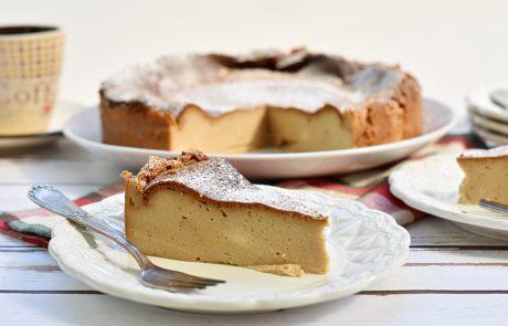 עוגת גבינה אפויה בטעם קפה
