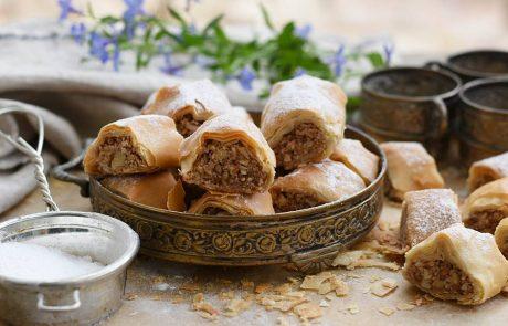 עוגיות מבצק פילו ופיצוחים (טבעוניות)