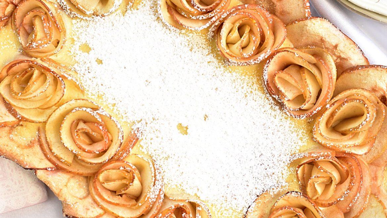 טארט שושני תפוחים בדבש לראש השנה