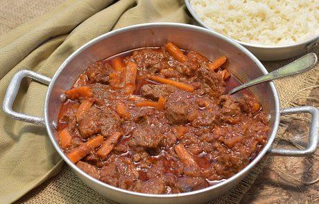 גולש בשר עם אורז אחד אחד