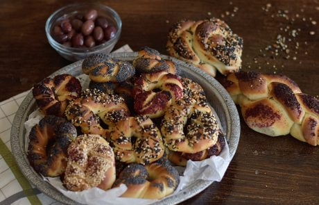 בייגלה ירושלמי עם פיצוחים ותבלינים