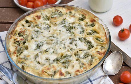 בלינצ'ס גבינה ותרד מוקרם בתנור
