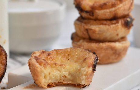 טארט בצק עלים וקרם וניל או Egg Tart