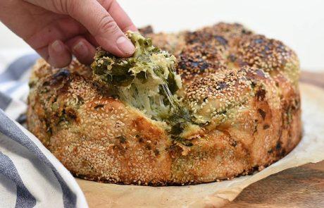 בייגלה ירושלמי נתלש במילוי גבינות ותרד