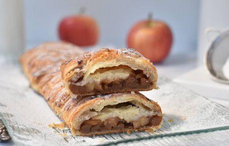 צמת בצק עלים במילוי תפוחים וקרם פאטיסייר