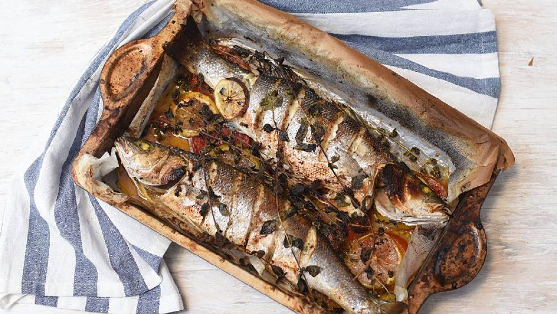 דגים בתנור – בר ים אפוי בתנור