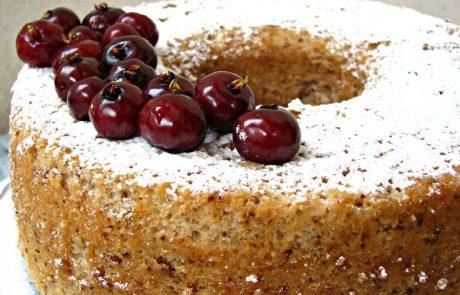 עוגת קוקוס ואגוזים לימונית