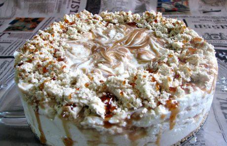 עוגת גבינה ניו יורקית בנגיעות חלבה