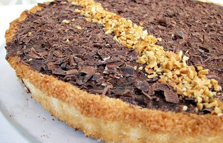 טארט קוקוס ושוקולד כשר לפסח
