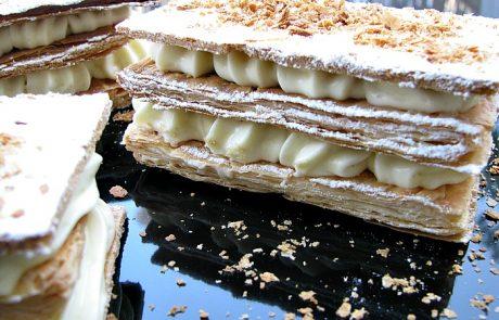 עוגת מילפיי בקרם פאטיסייר
