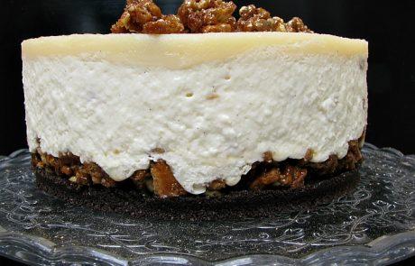 עוגת גבינה עם הפתעות קראנצ'יות