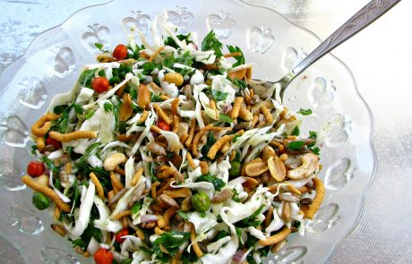 סלט כרוב, ירק ופיצוחים